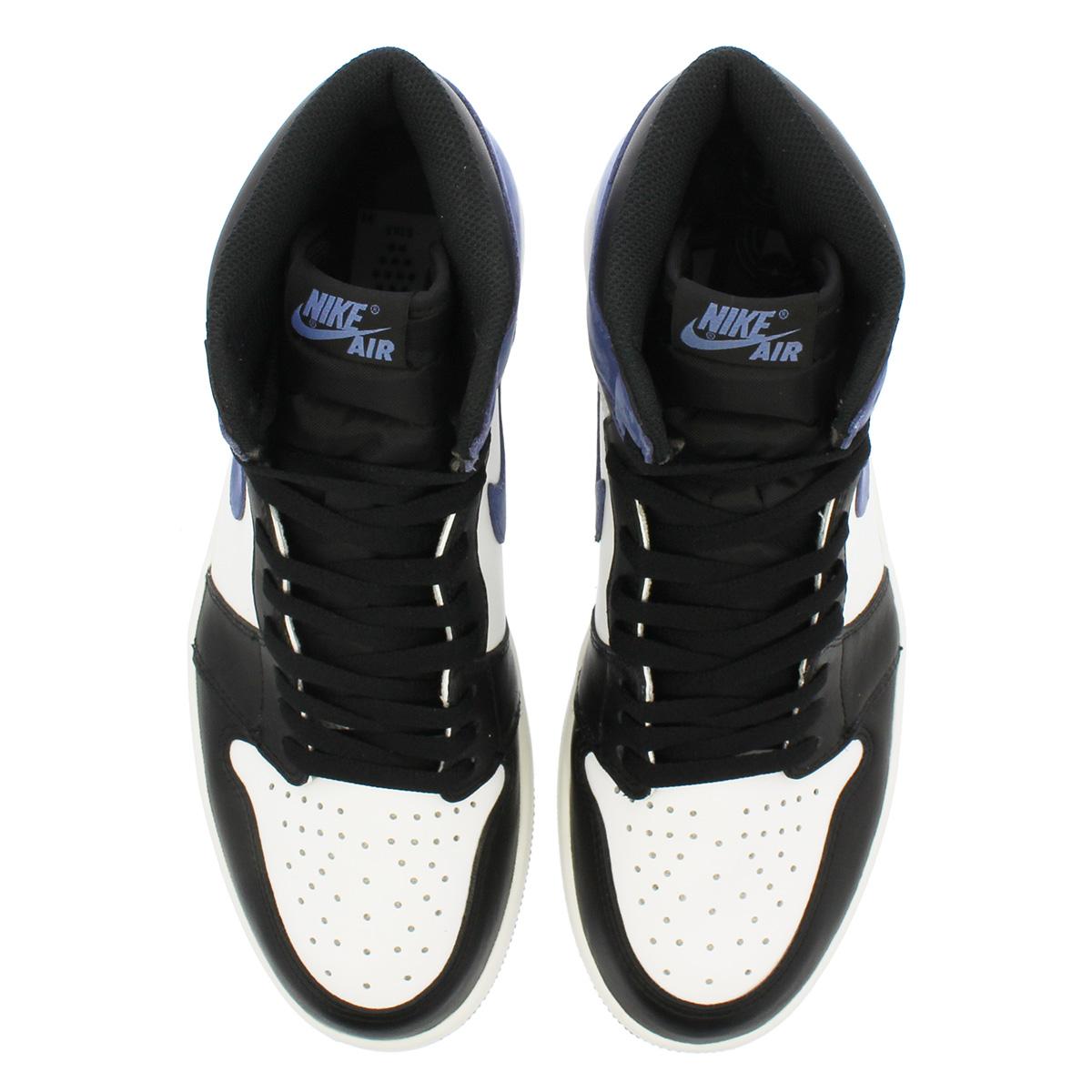 e0a58e79fbedec NIKE AIR JORDAN 1 RETRO HIGH OG Nike Air Jordan 1 nostalgic high OG SUMMIT  WHITE BLUE MOON BLACK 555