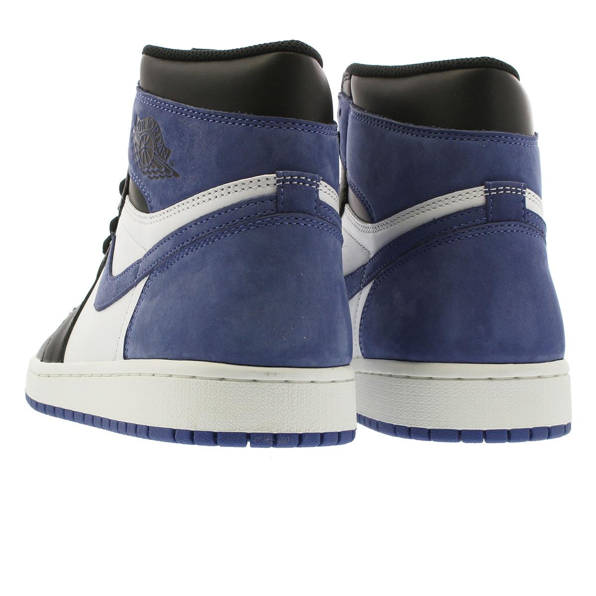 b37f9130eaca3 NIKE AIR JORDAN 1 RETRO HIGH OG Nike Air Jordan 1 nostalgic high OG SUMMIT  WHITE BLUE MOON BLACK 555