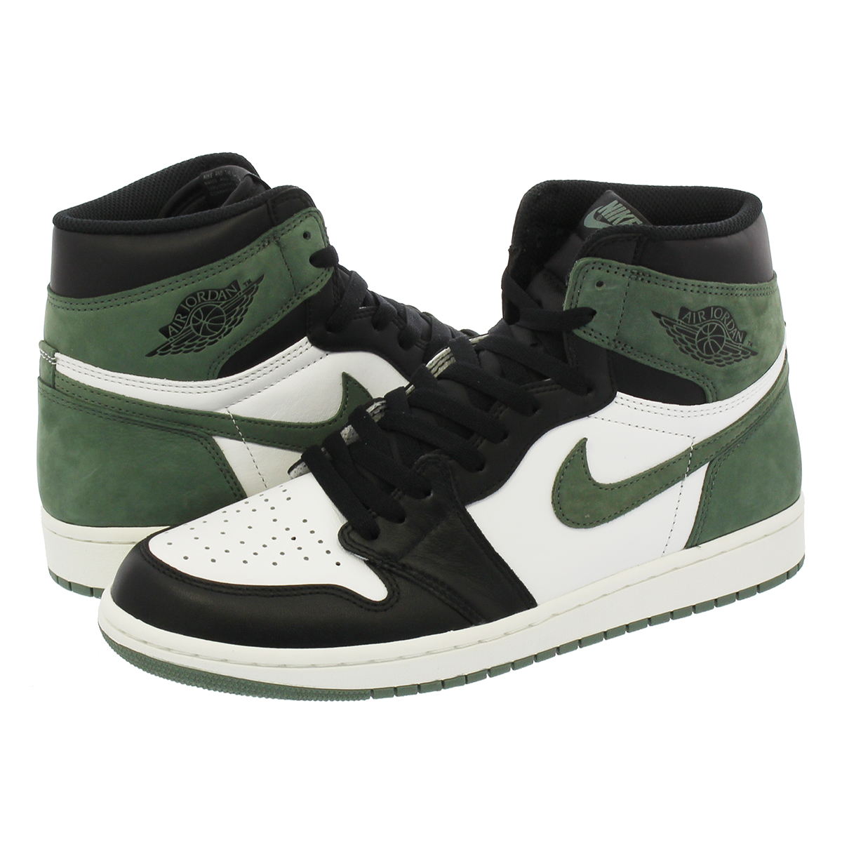 7491e569c58 NIKE AIR JORDAN 1 RETRO HIGH OG Nike Air Jordan 1 nostalgic high OG WHITE BLACK CLAY  GREEN