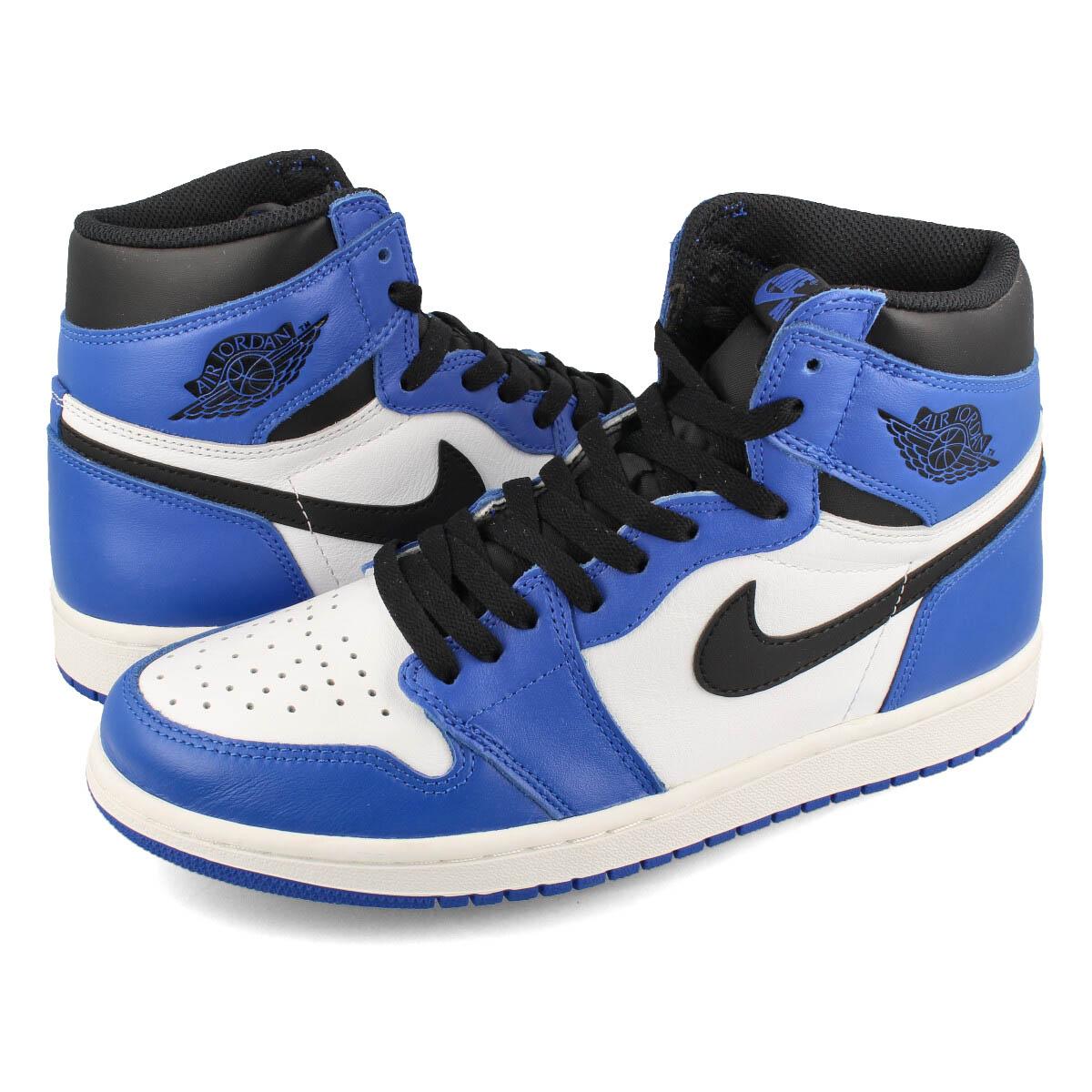 NIKE AIR JORDAN 1 RETRO HIGH OG Nike Air Jordan 1 nostalgic high OG GAME  ROYAL SUMMIT WHITE BLACK 4dc9fd5e805