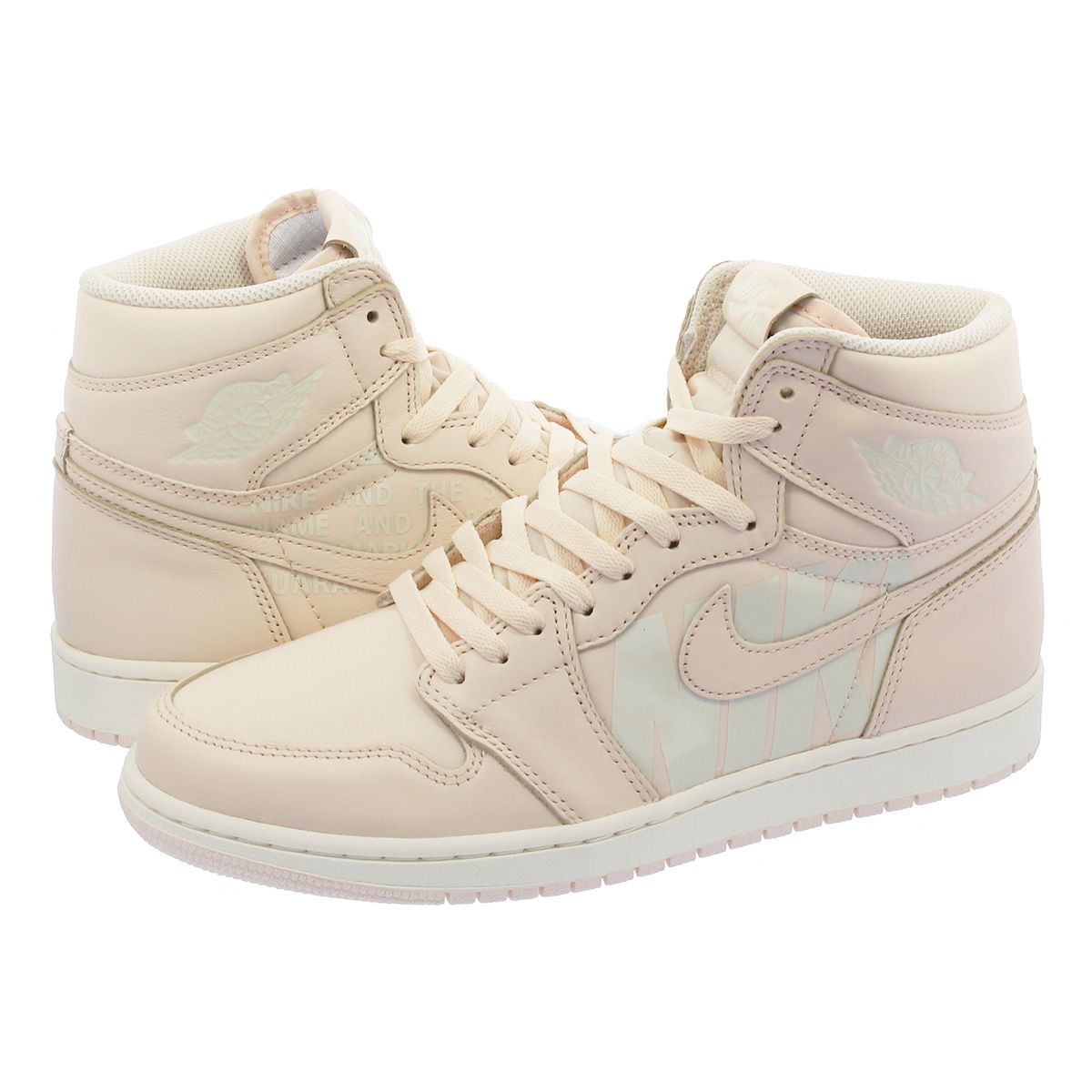 NIKE AIR JORDAN 1 RETRO HIGH OG Nike Air Jordan 1 nostalgic high OG GUAVA  ICE SAIL 555 c6fcdfad2