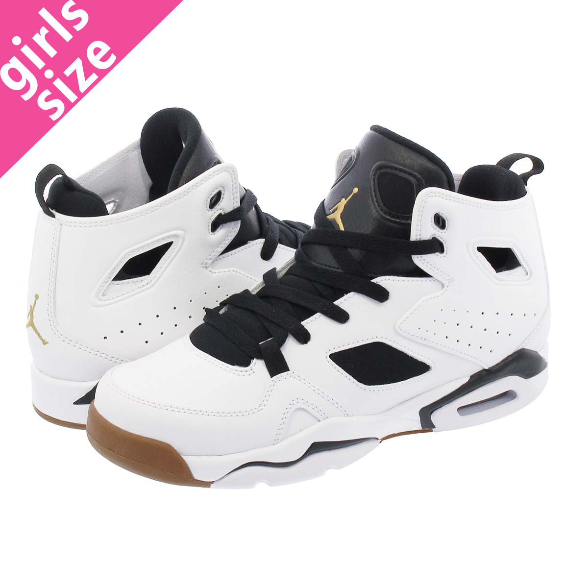 NIKE JORDAN FLIGHT CLUB 91 GG Nike Jordan flight club 91 GG  WHITE BLACK GOLD 555 5481821f8a