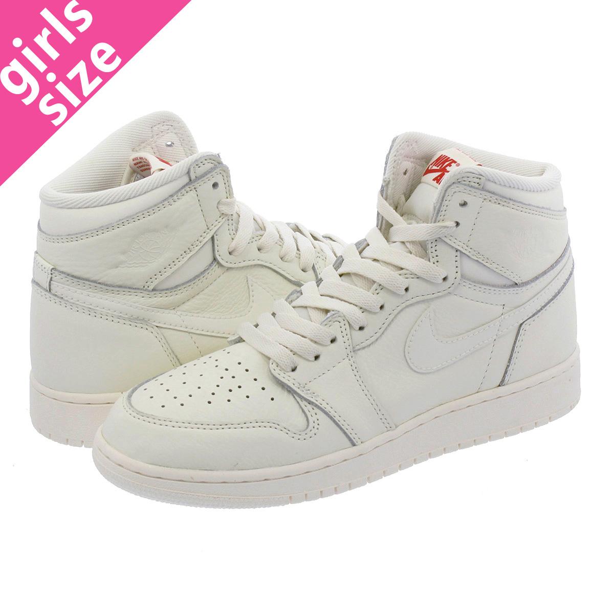 d4f5c402183cb3 NIKE AIR JORDAN 1 RETRO HIGH OG BG Nike Air Jordan 1 nostalgic high OG BG  SAIL UNIVERSITY RED