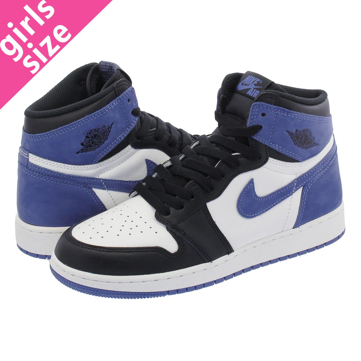 NIKE AIR JORDAN 1 RETRO HIGH OG BG Nike Air Jordan 1 nostalgic high OG BG  SUMMIT WHITE/BLUE MOON/BLACK 575,441-115