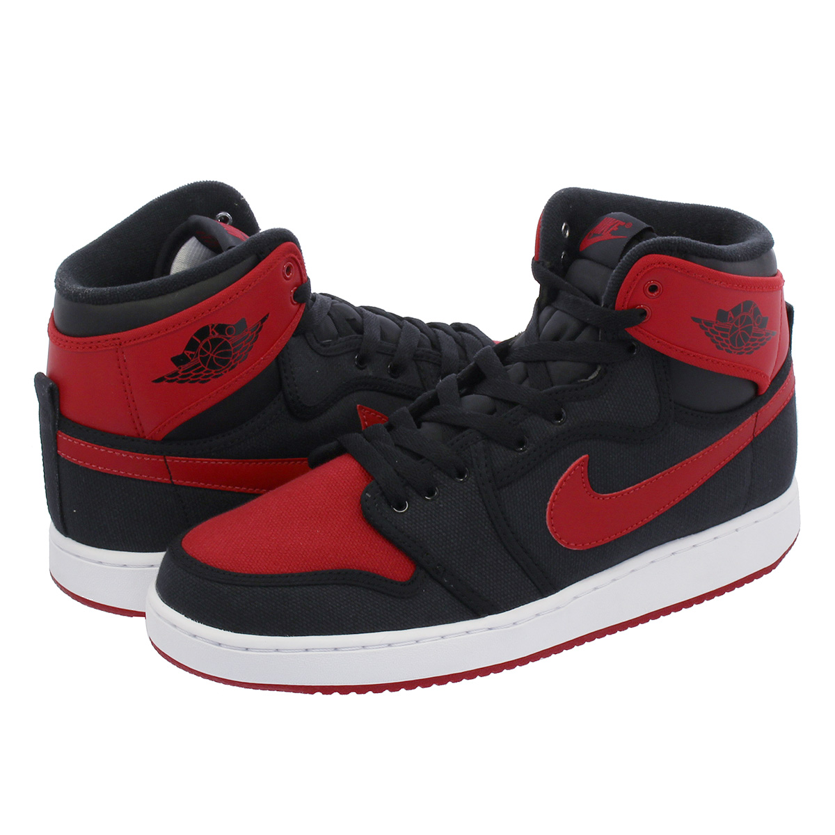 detailed look a4305 e35d8 NIKE AIR JORDAN 1 RETRO KO HIGH OG Nike Air Jordan 1 nostalgic KO high OG  BLACK VARSITY RED WHITE 638,471-001
