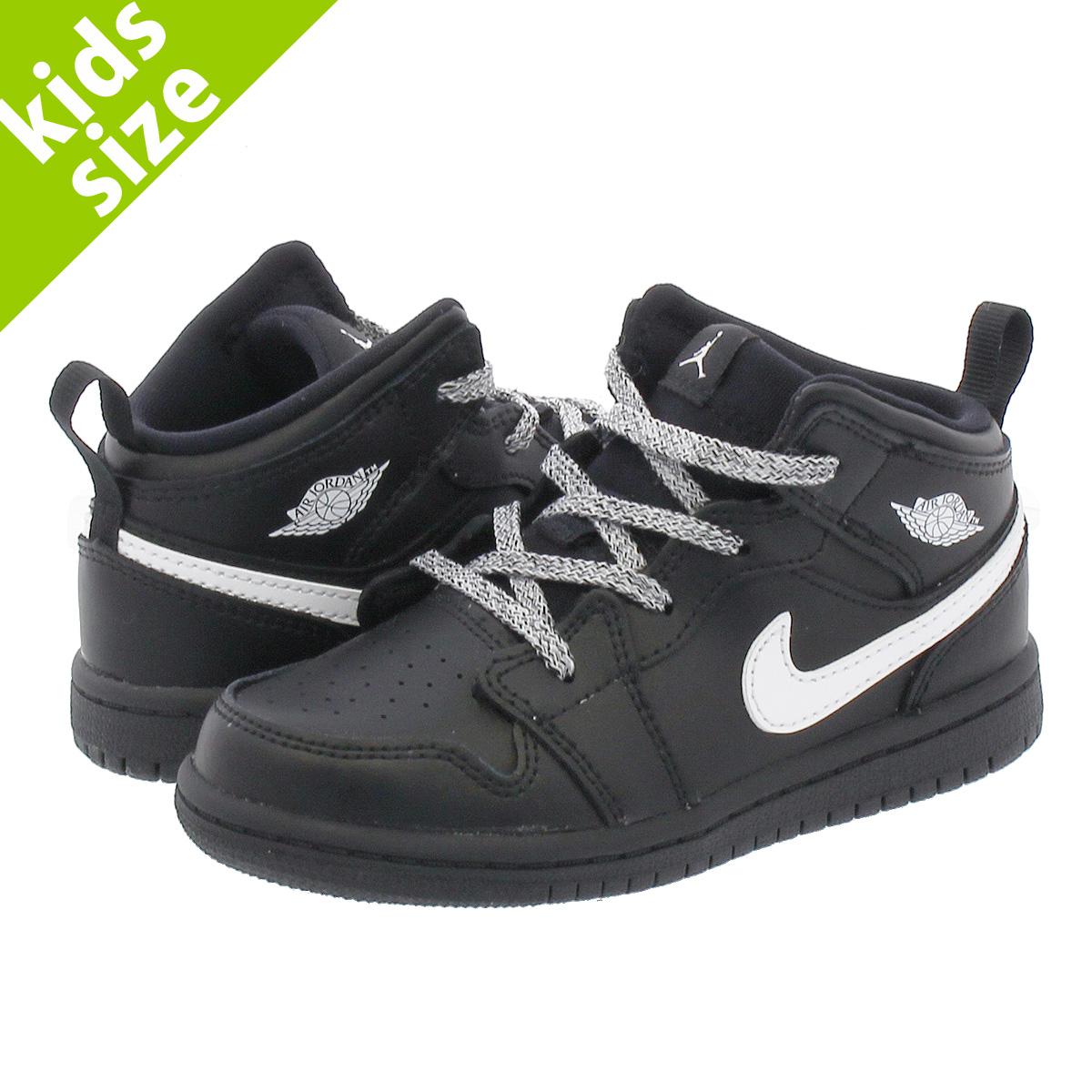7ef14a9110 SELECT SHOP LOWTEX: NIKE AIR JORDAN 1 MID BT Nike Air Jordan 1 mid TD  BLACK/WHITE   Rakuten Global Market