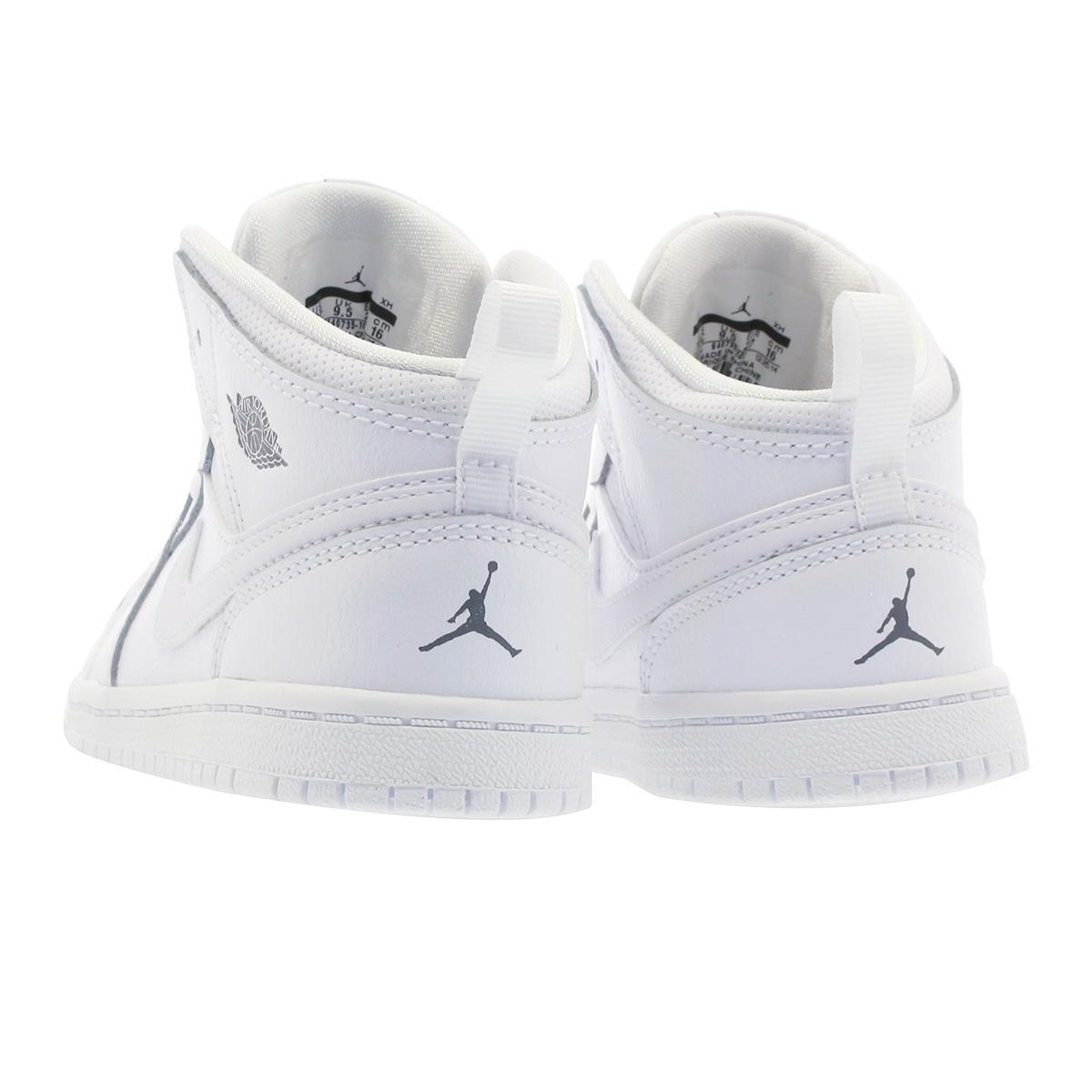sale retailer 6d1e7 91d84 NIKE AIR JORDAN 1 MID BT Nike Air Jordan 1 mid BT WHITE COOL GREY WHITE