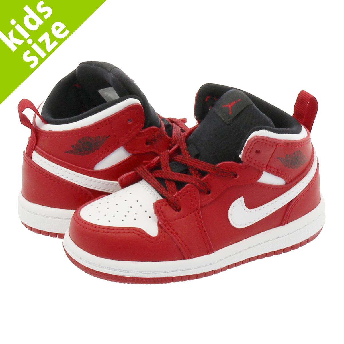 best website 273c2 2a234 NIKE AIR JORDAN 1 MID BT Nike Air Jordan 1 mid BT GYM RED/WHITE 640,735-605