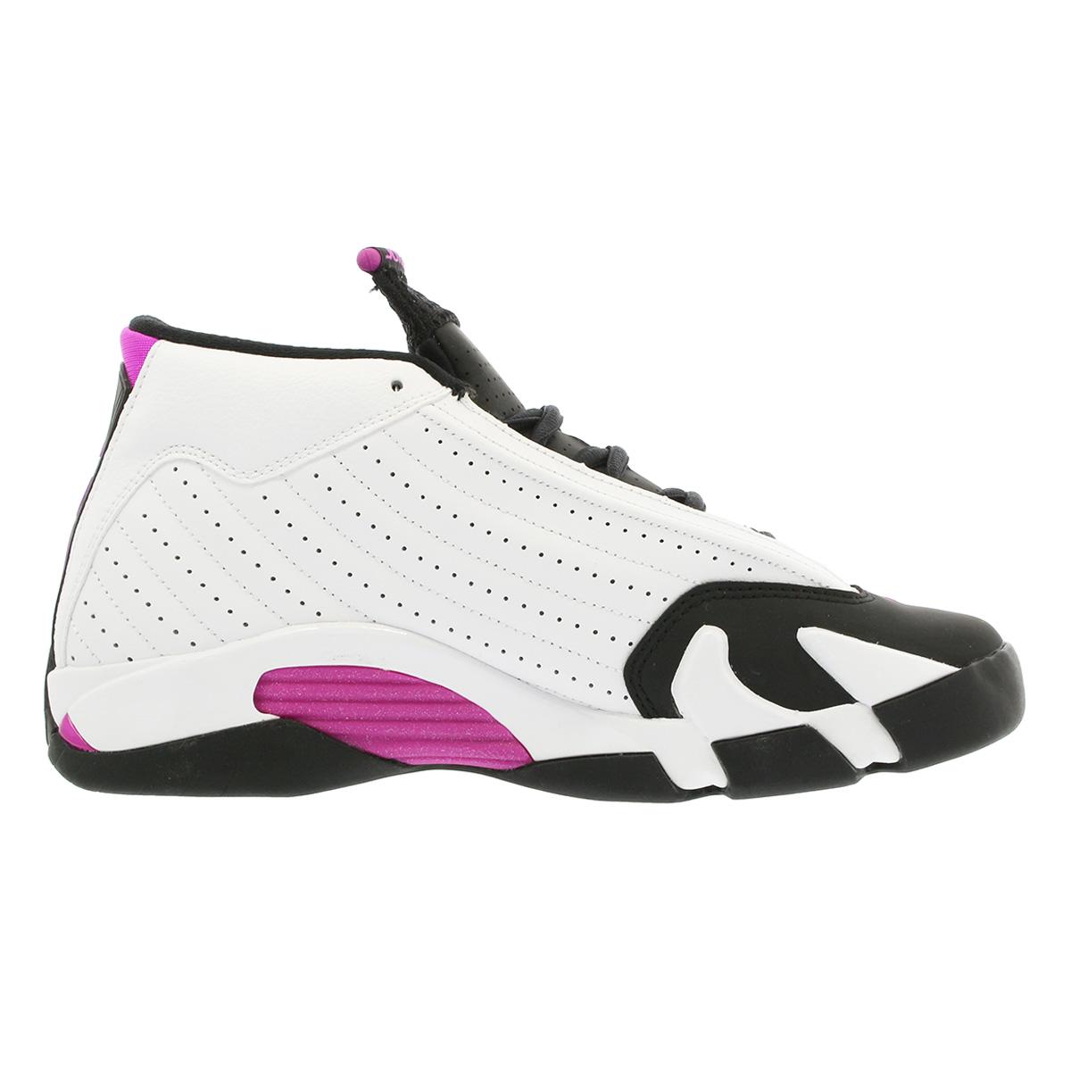 the latest fadd1 15bbe NIKE AIR JORDAN 14 RETRO GS Nike Air Jordan 14 nostalgic GS WHITE/FUCHSIA  FLASH/BLACK 654,969-119