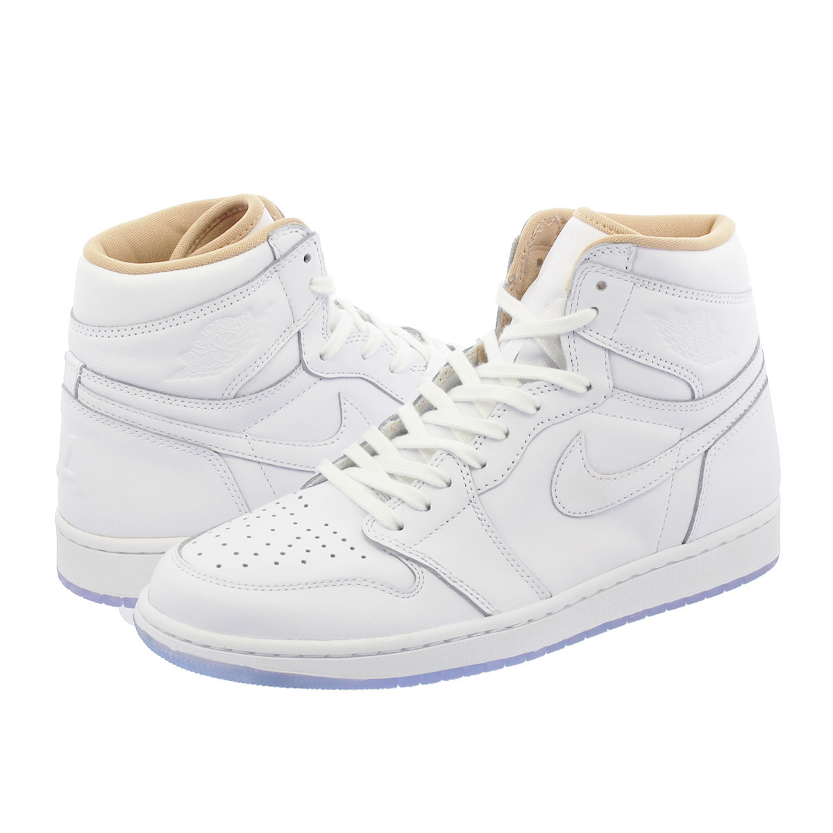 huge discount 533e5 f8b60 NIKE AIR JORDAN 1 RETRO HIGH LA Nike Air Jordan 1 nostalgic high LA  WHITE/METALLC GOLD 819,012-130