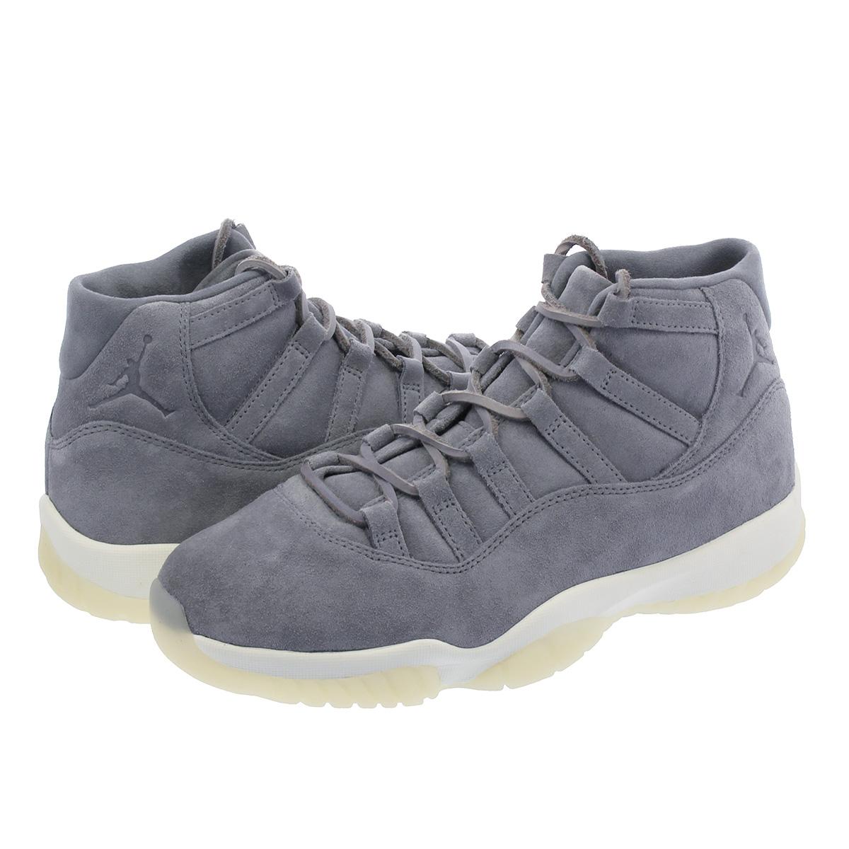 NIKE AIR JORDAN 11 RETRO PRM Nike Air Jordan 11 nostalgic premium COOL GREY  SAIL 914 f931a355c