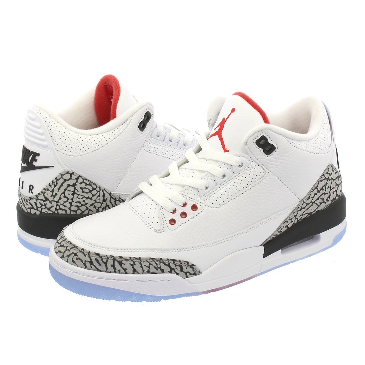 the latest 0b14a aa21f NIKE AIR JORDAN 3 RETRO NRG Nike Air Jordan 3 nostalgic WHITE/FIRE  RED/CEMENT GREY/BLACK