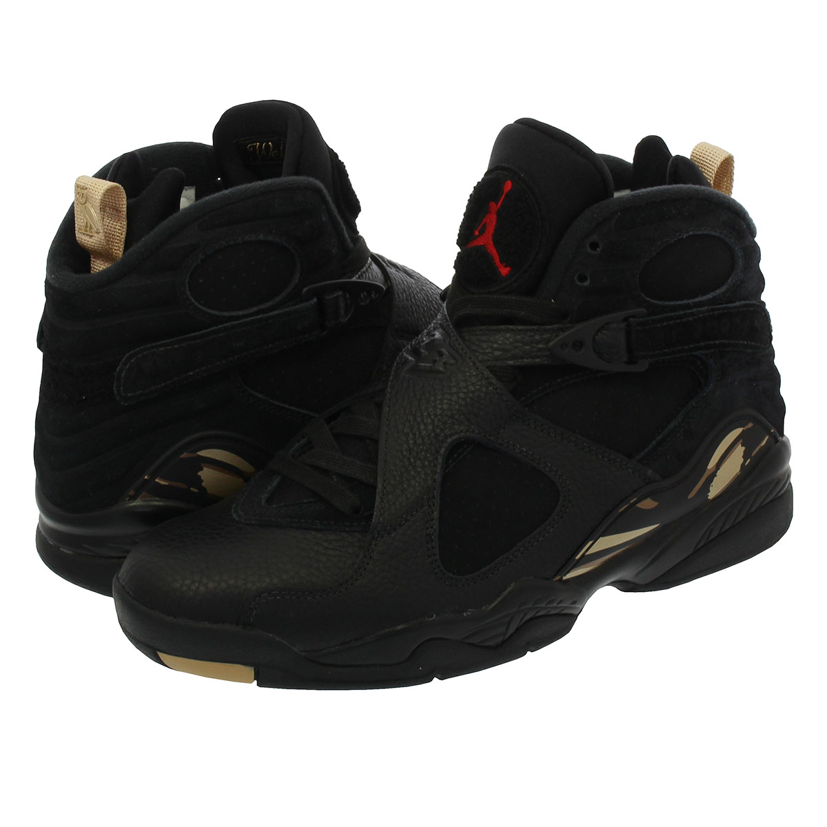 fe28bc88075094 NIKE AIR JORDAN 8 RETRO Nike Air Jordan 8 nostalgic BLACK METALLIC  GOLD VARSITY RED