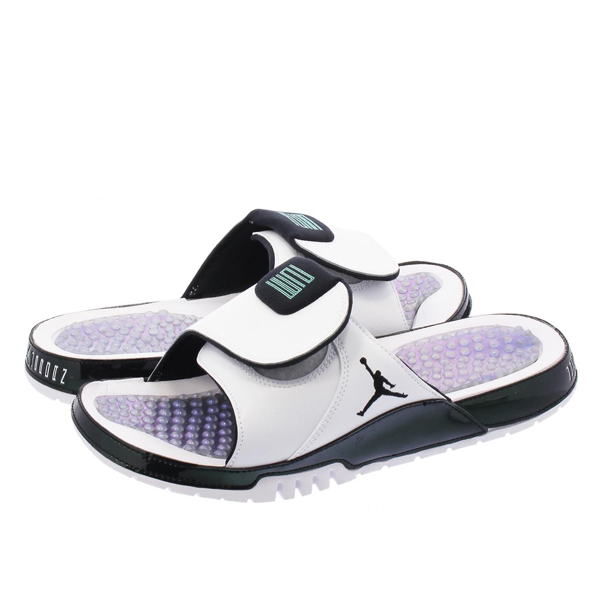 8fa84b6f0edd NIKE JORDAN HYDRO XI RETRO Nike Jordan high mud 11 nostalgic WHITE EMERALD  RISE BLACK aa1336-117