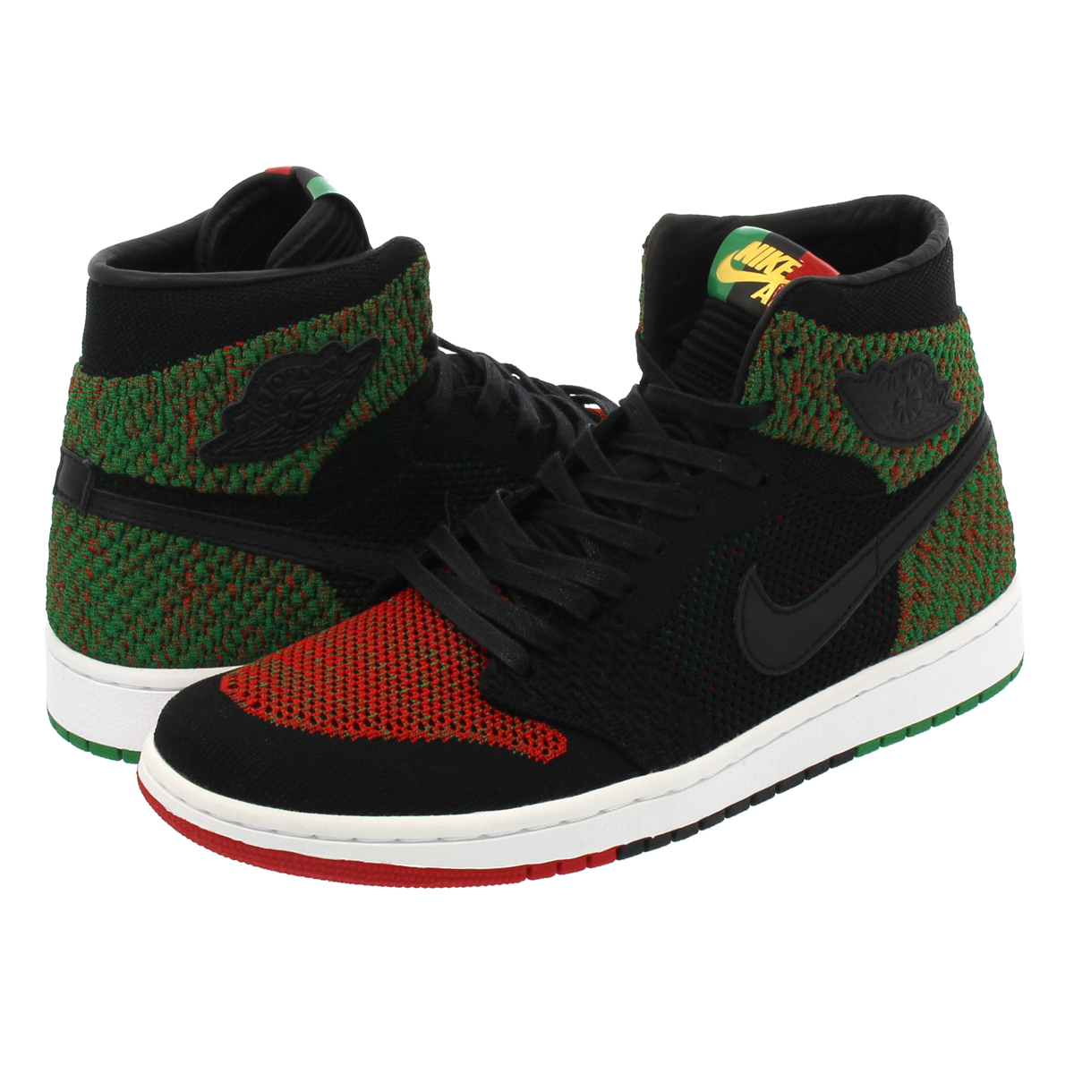 NIKE AIR JORDAN 1 RETRO HIGH FLYKNIT BHM ナイキ エア ジョーダン 1 レトロ ハイ フライニット BLACK/LUCID GREEN/UNIVERSITY RED/BLACK aa2426-026