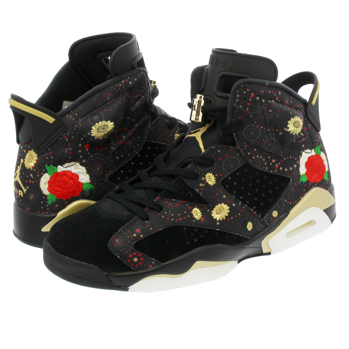 30a43bd1fd3 NIKE AIR JORDAN 6 RETRO CNY Nike Air Jordan 6 nostalgic CNY BLACK MULTI  COLOR SUMMIT WHITE METALLIC GOLD