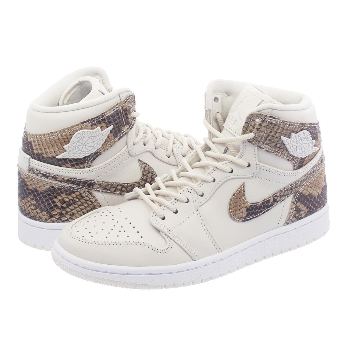 release date: later unique design NIKE WMNS AIR JORDAN 1 RETRO HI PREM Nike women Air Jordan 1 nostalgic high  premium PHANTOM/WHITE ah7389-004