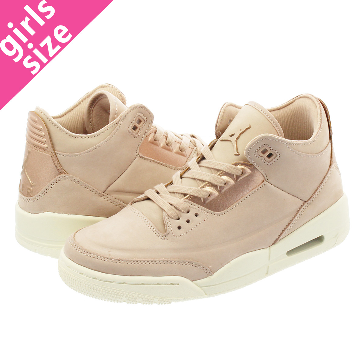 844cf8336cb5aa NIKE WMNS AIR JORDAN 3 RETRO SE Nike women Air Jordan 3 nostalgic PARTICLE  BEIGE METALLIC RED BRONZE SAIL ah7859-205