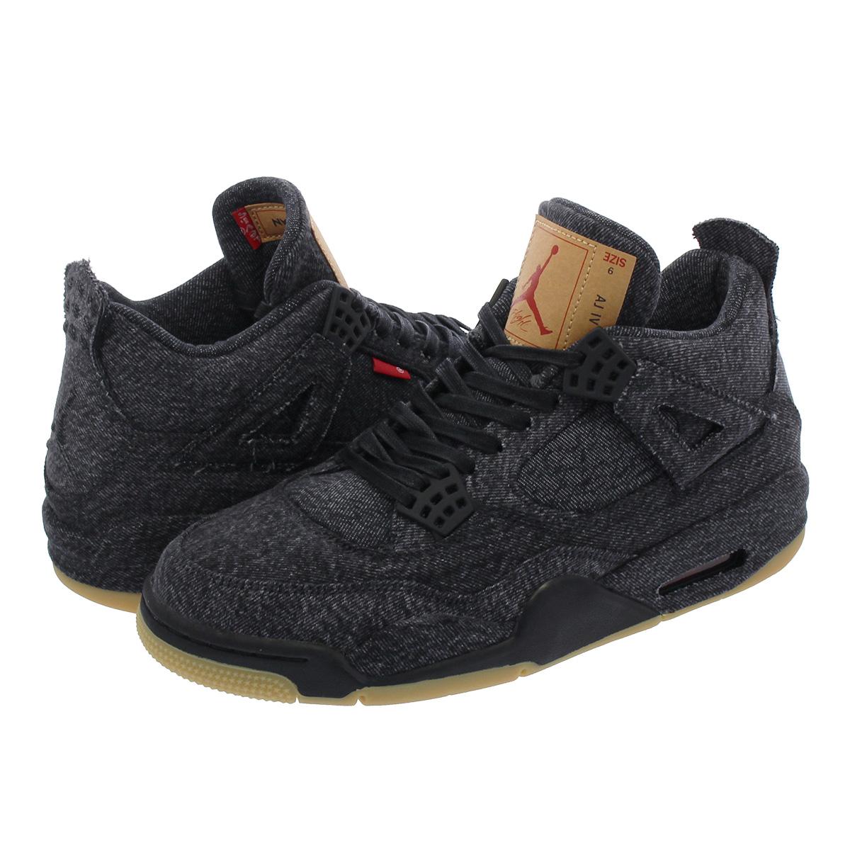 3e018e00967 NIKE AIR JORDAN 4 RETRO Nike air Jordan 4 nostalgic NRG Levis BLACK/BLACK  ao2571-001