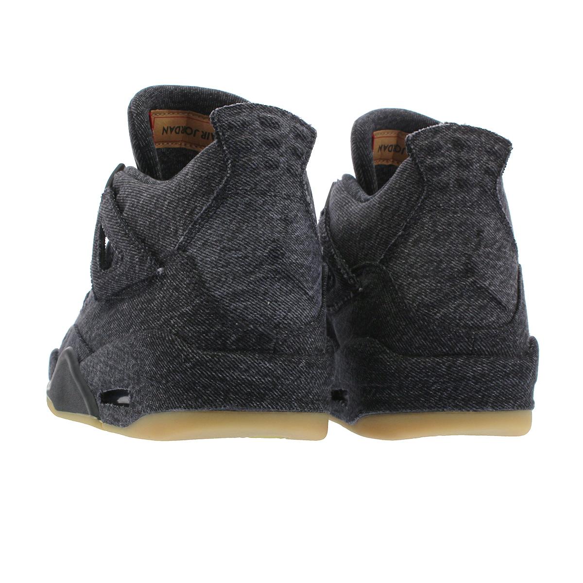 competitive price 1c8a5 896ee NIKE AIR JORDAN 4 RETRO Nike air Jordan 4 nostalgic NRG Levis BLACK/BLACK  ao2571-001