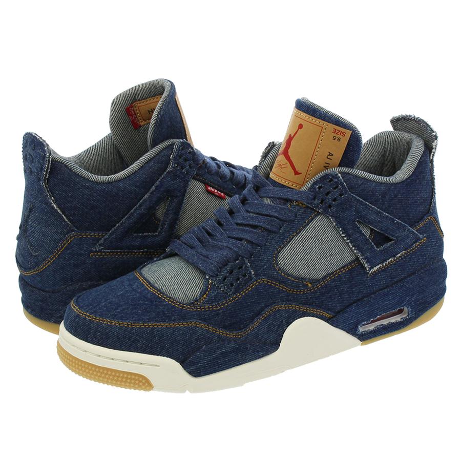 pretty nice 61d24 82d07 NIKE AIR JORDAN 4 RETRO Nike Air Jordan 4 nostalgic Levis  DENIM/DENIM/SAIL/GAME RED