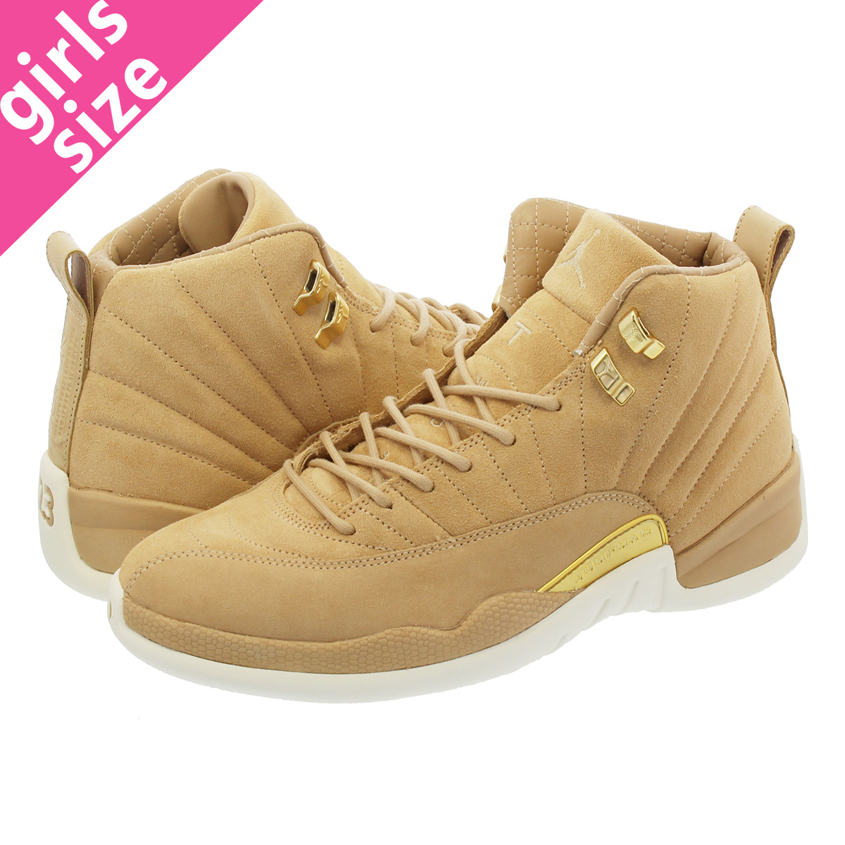 finest selection b9e0d 7184e NIKE WMNS AIR JORDAN 12 RETRO Nike women Air Jordan 12 nostalgic VACHETTA  TAN MTLC GOLD SAIL ao6068-203-l
