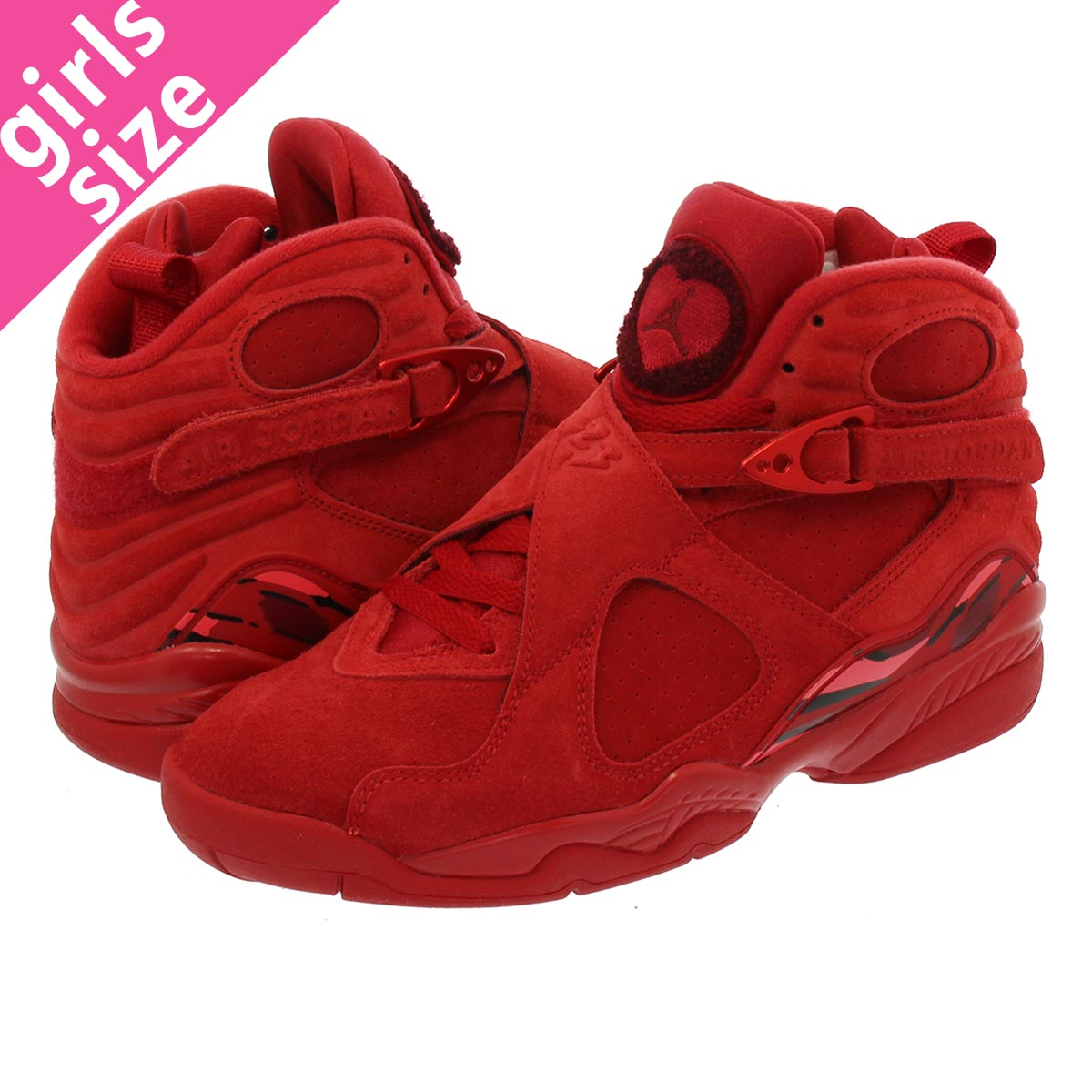44f269d1da778f ... shop nike wmns air jordan 8 retro vday nike women air jordan 8 nostalgic  gym red