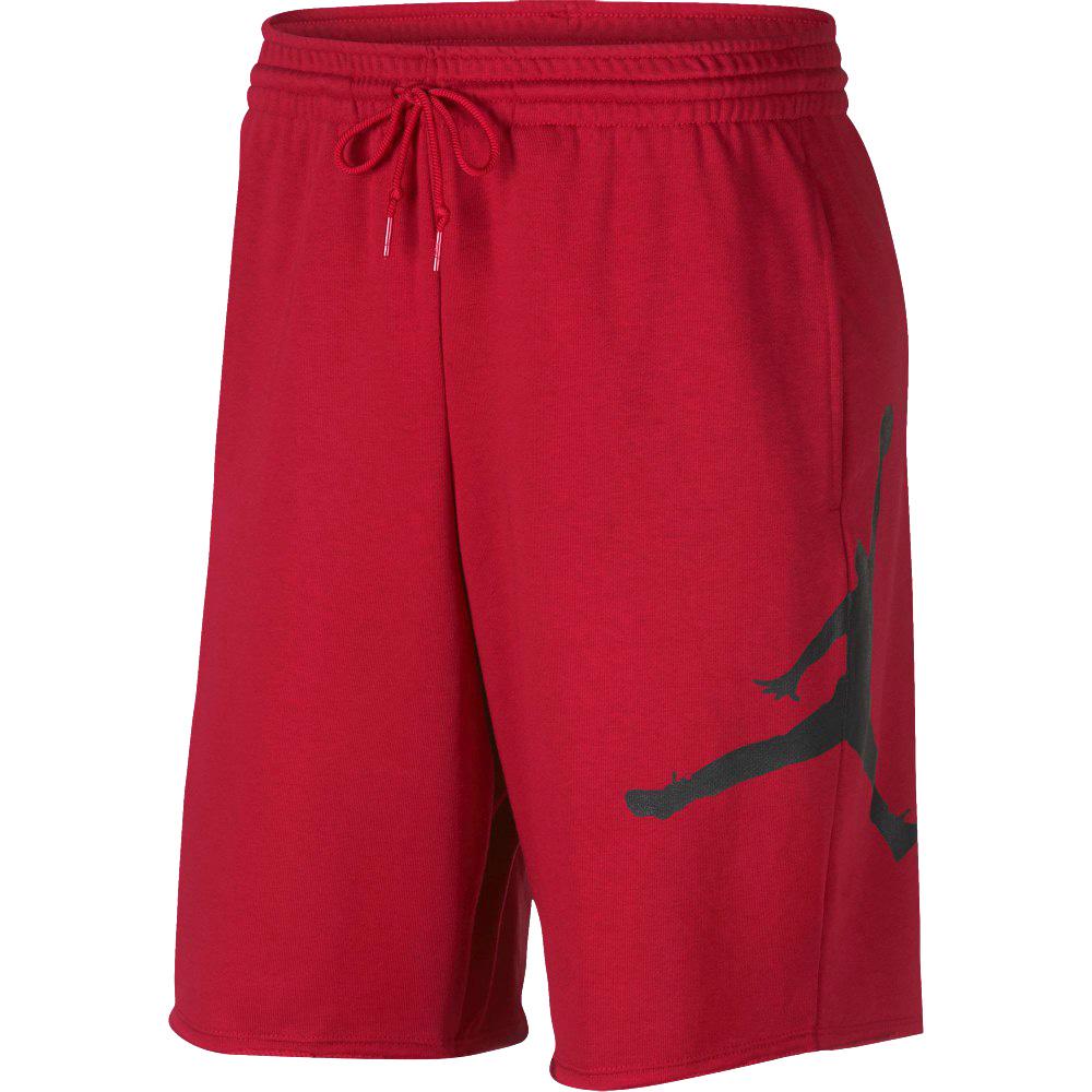 caaf418f87f8 NIKE JORDAN SPORTSWEAR JUMPMAN AIR FLEECE SHORTS Nike Jordan sportswear  jump man air fleece shorts RED