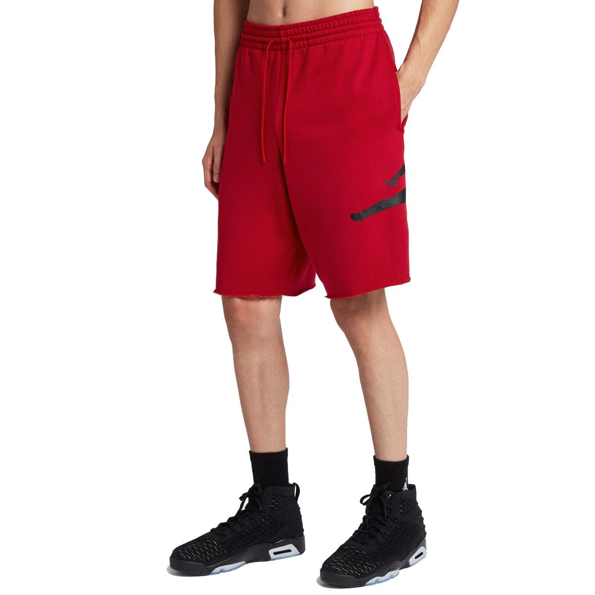 0808e527a93 ... NIKE JORDAN SPORTSWEAR JUMPMAN AIR FLEECE SHORTS Nike Jordan sportswear  jump man air fleece shorts RED ...