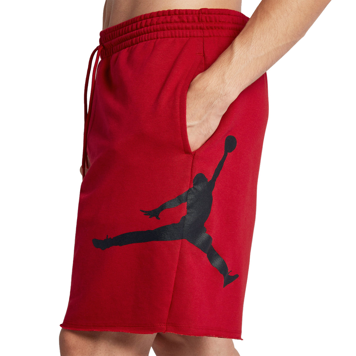 2b0643ddbeab NIKE JORDAN SPORTSWEAR JUMPMAN AIR FLEECE SHORTS Nike Jordan sportswear jump  man air fleece shorts RED