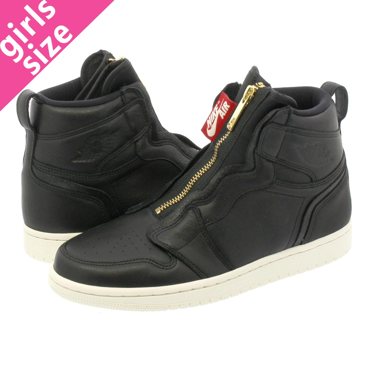 lowest price 148b2 f29d8 NIKE WMNS AIR JORDAN 1 HIGH ZIP Nike women Air Jordan 1 high zip BLACK SAIL UNIVERSITY  RED aq3742-016-l