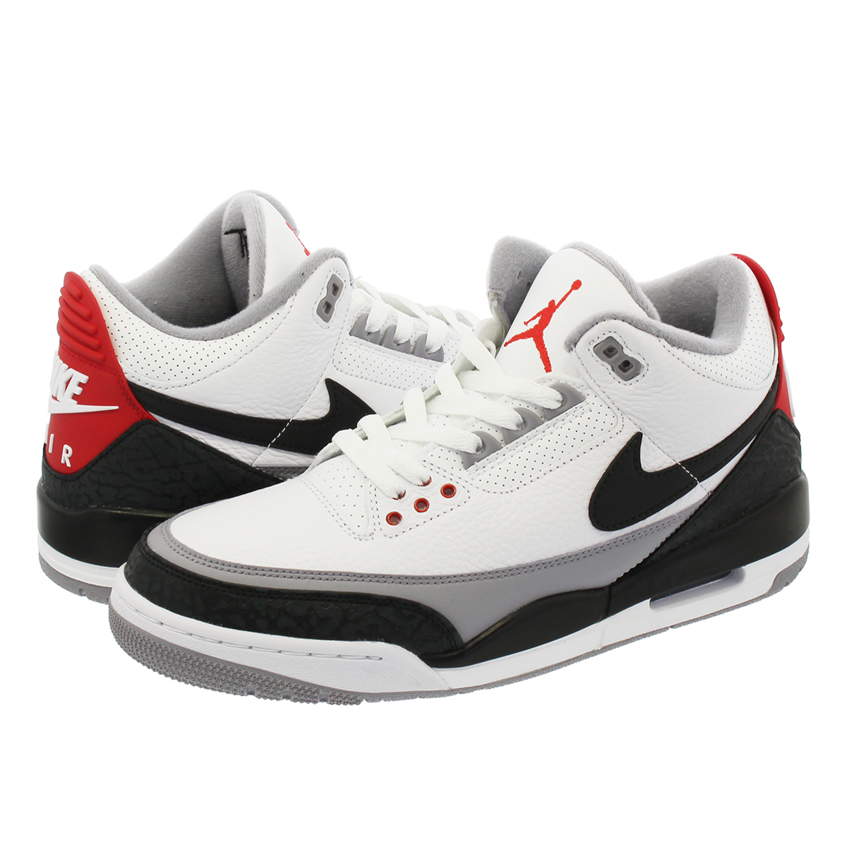 best website d847d 7f3e4 NIKE AIR JORDAN 3 RETRO TINKER NRG Nike Air Jordan 3 レトロティンカー NRG WHITE FIRE  RED CEMENT GREY BLACK