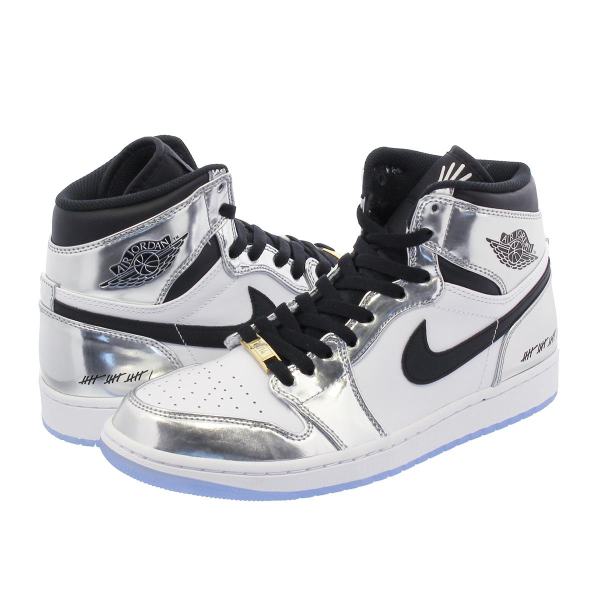 NIKE AIR JORDAN 1 RETRO HIGH THINK 16 Nike Air Jordan 1 nostalgic high sink  16 CHROME BLACK WHITE TURBO GREEN aq7476-016 1d266e91ee9