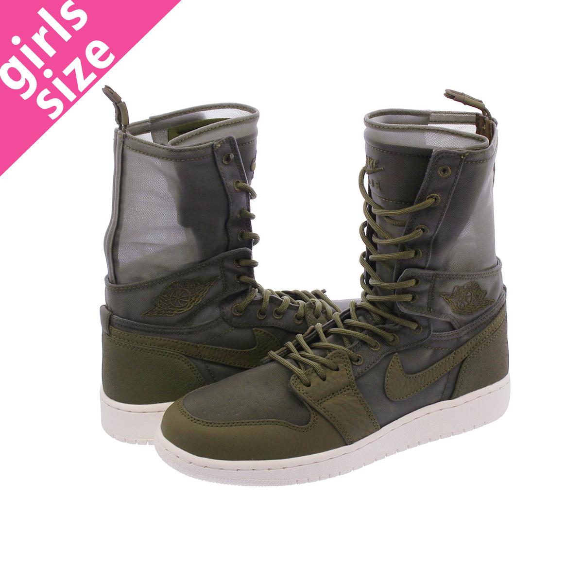 94203a050235ce NIKE WMNS AIR JORDAN EXPORER Nike women Air Jordan 1 Explorer OLIVE  CANVAS/PHANTOM aq7883 ...