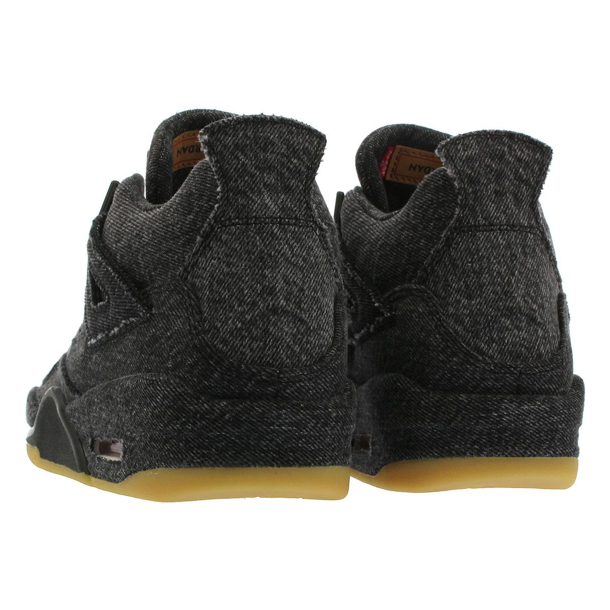 best sneakers 9d986 fac5f NIKE AIR JORDAN 4 RETRO BG Nike air Jordan 4 nostalgic BG Levis BLACK/BLACK  aq9103-001