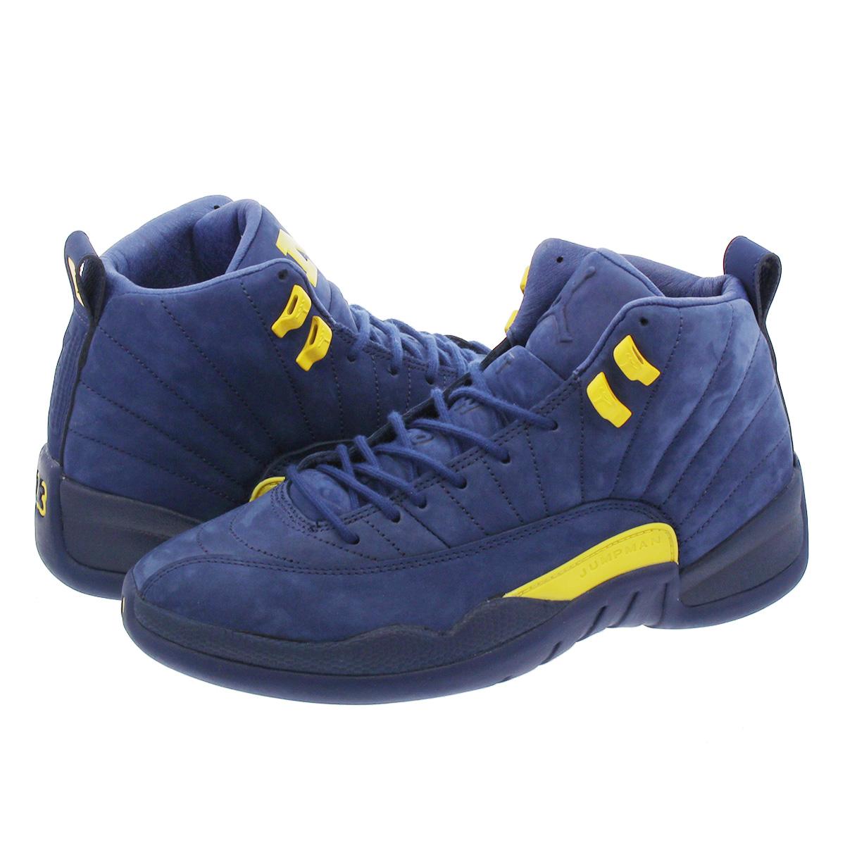 save off 1d230 6638f NIKE AIR JORDAN 12 RETRO Nike Air Jordan 12 nostalgic Michigan COLLEGE  NAVY/AMARILLO bq3180-407