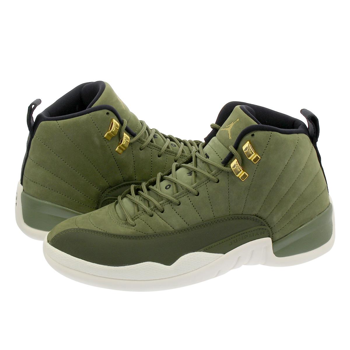 reputable site 3da40 18664 NIKE AIR JORDAN 12 RETRO Nike Air Jordan 12 nostalgic OLIVE CANVAS/METALLIC  GOLD/BLACK/SAIL 130,690-301