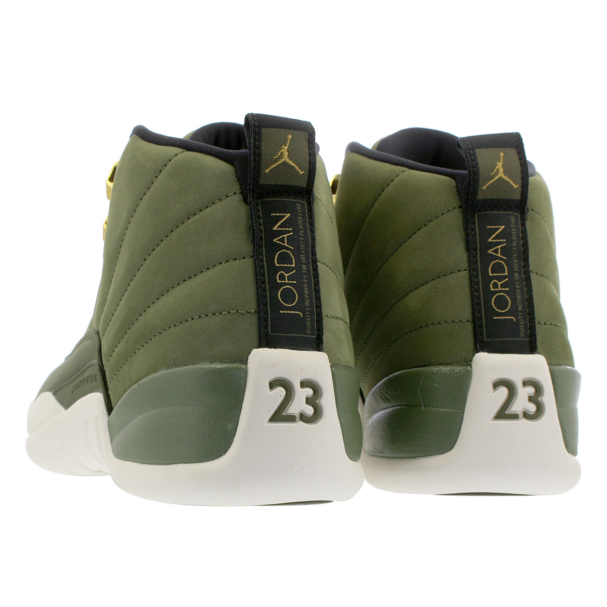 reputable site ff896 5d6df NIKE AIR JORDAN 12 RETRO Nike Air Jordan 12 nostalgic OLIVE CANVAS/METALLIC  GOLD/BLACK/SAIL 130,690-301