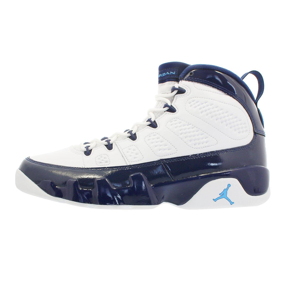 the best attitude d4cd9 dad6b NIKE AIR JORDAN 9 RETRO Nike air Jordan 9 nostalgic WHITE/MIDNIGHT  NAVY/UNIVERSITY BLUE 302,370-145