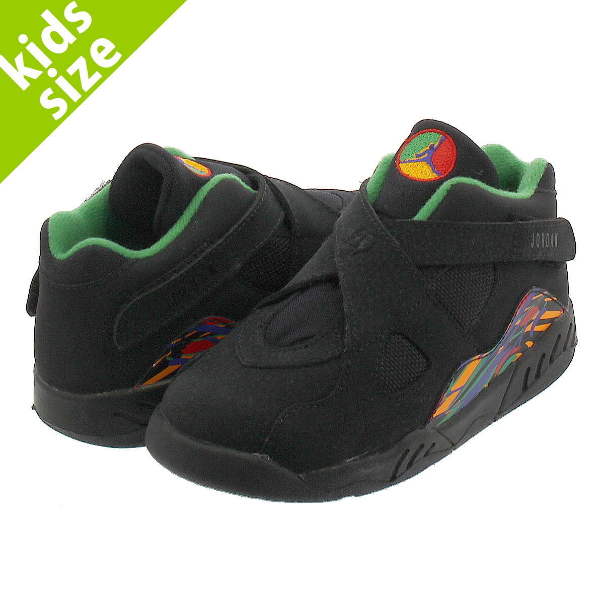 NIKE AIR JORDAN 8 RETRO BT ナイキ エア ジョーダン 8 レトロ BT BLACK/LIGHT CONCORD/ALOE VERDE 305360-004