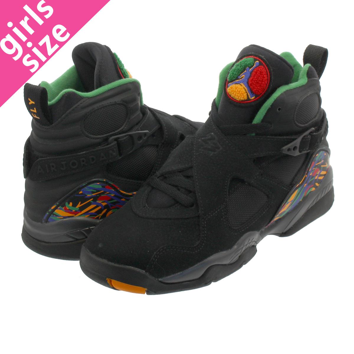 official photos 1ad3b cba32 NIKE AIR JORDAN 8 RETRO GS Nike Air Jordan 8 nostalgic GS BLACK/LIGHT  CONCORD/ALOE VERDE 305,368-004