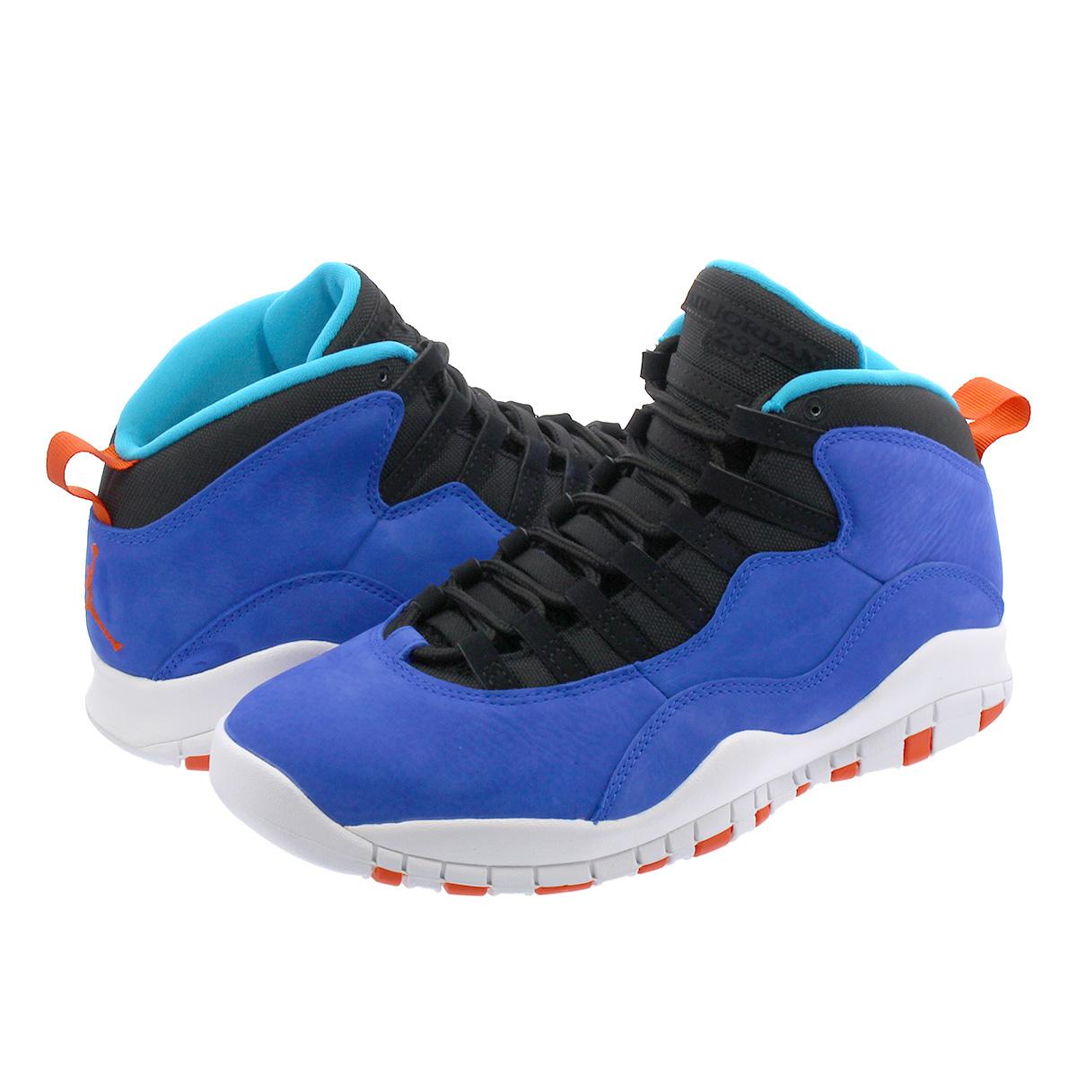 0be93e0bcb283d NIKE AIR JORDAN 10 RETRO Nike Air Jordan 10 nostalgic RACER BLUE BLACK TEAM  ORANGE WHITE 310