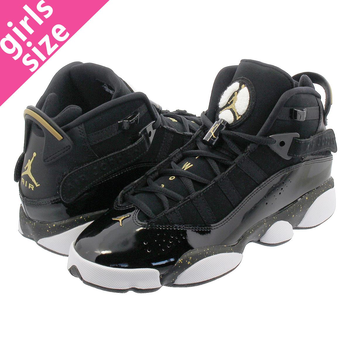 finest selection e1984 8b631 NIKE JORDAN 6 RINGS BG Nike Jordan 6 RINGS Co.,Ltd. BG BLACK/METALLIC  GOLD/WHITE 323,419-007