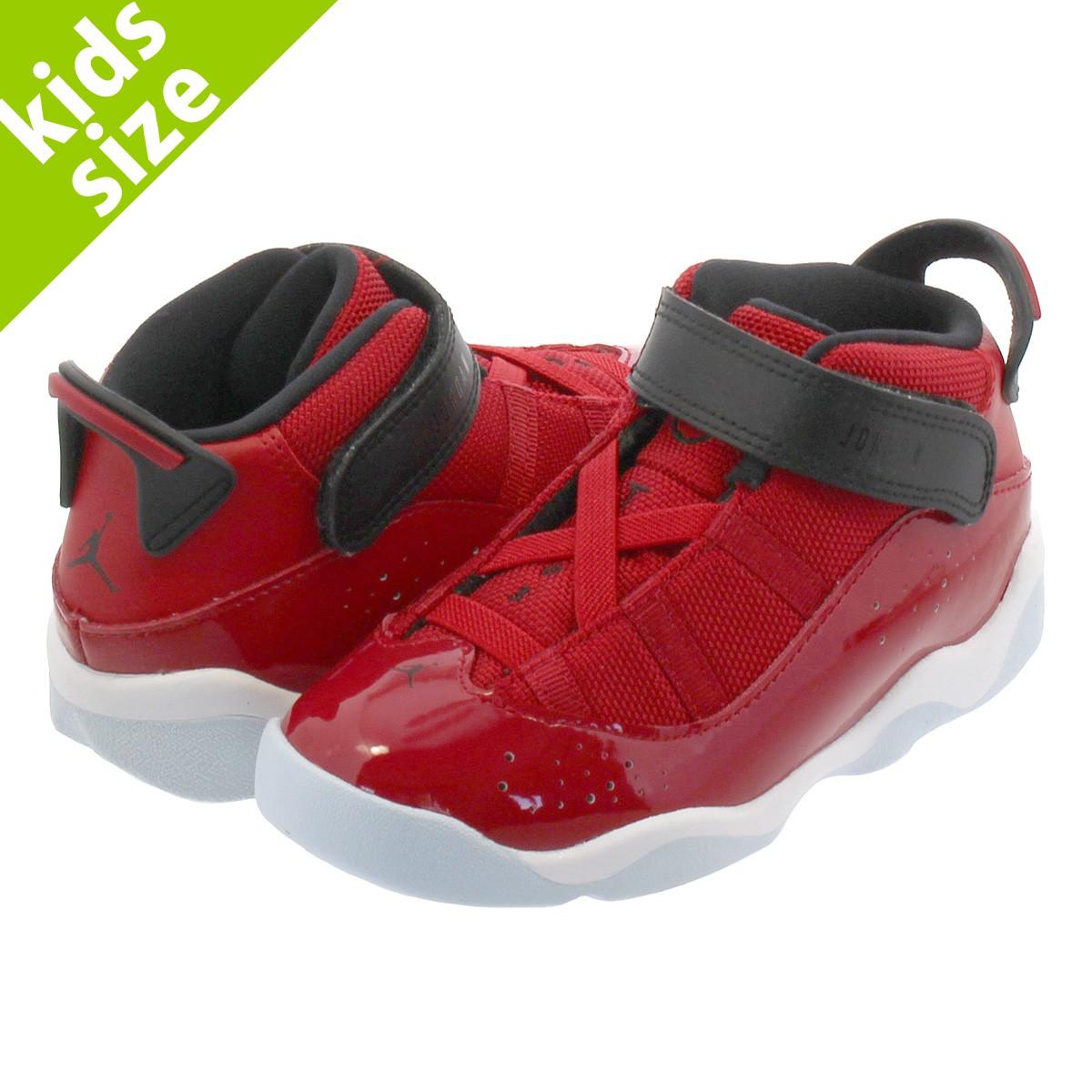 Jordan 6 Rings Gym Red//Black-White 323420 601 TD