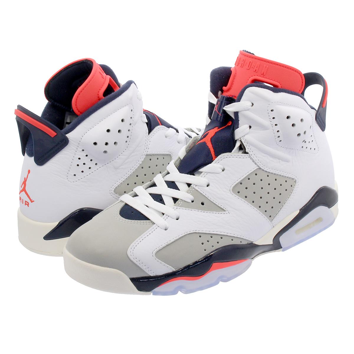 91f062381d5 NIKE AIR JORDAN 6 RETRO Nike Air Jordan 6 nostalgic WHITE/INFRARED 23/GREY  ...