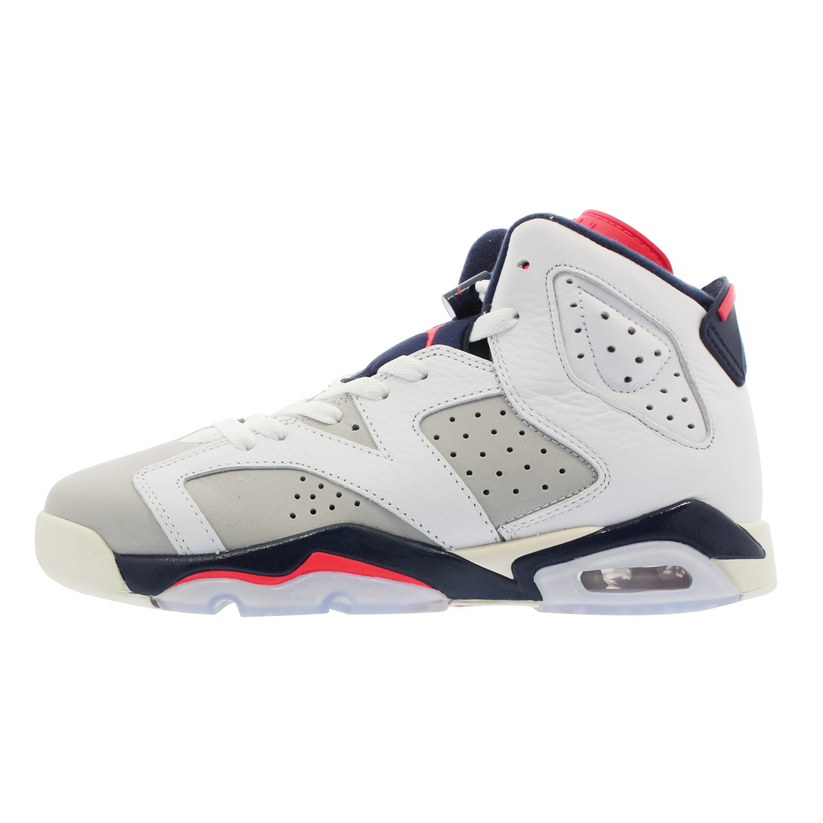 NIKE AIR JORDAN 6 RETRO BG 【TINKER HATFIELD】 ナイキ エア ジョーダン 6 レトロ BG WHITE/INFRARED 23/GREY/SAIL 384665-104