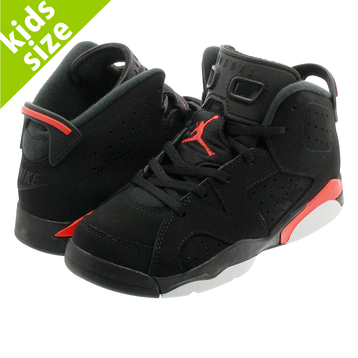 e58a551f8f7 NIKE AIR JORDAN 6 RETRO BP Nike Air Jordan 6 nostalgic BP BLACK/INFRARED  384,666 ...