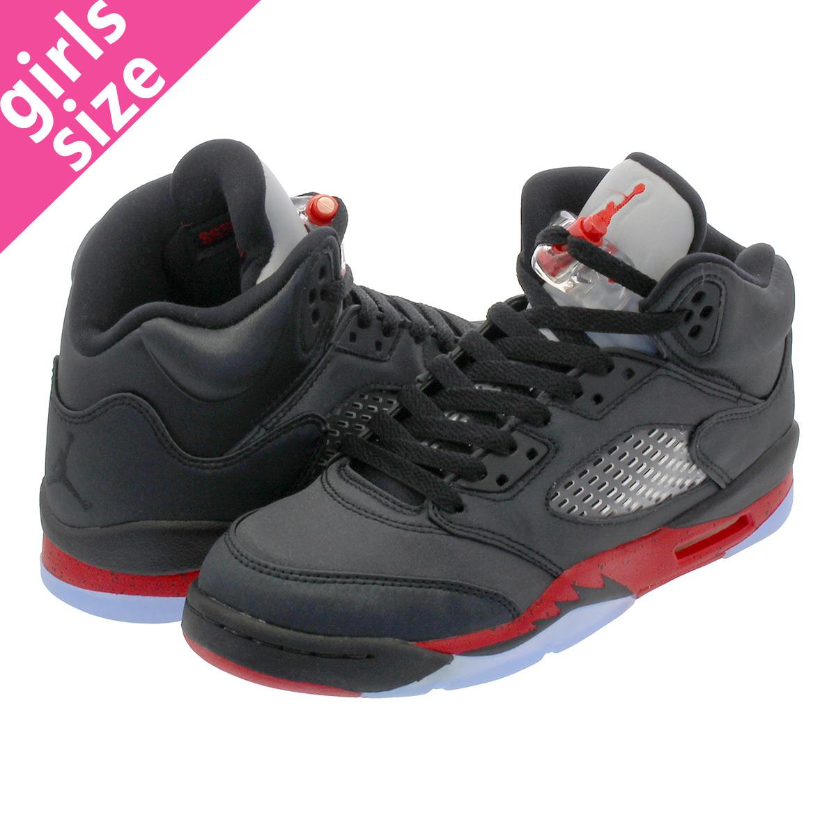 17499b0b5aa8 NIKE AIR JORDAN 5 RETRO GS Nike Air Jordan 5 nostalgic GS BLACK UNIVERSITY  RED 440