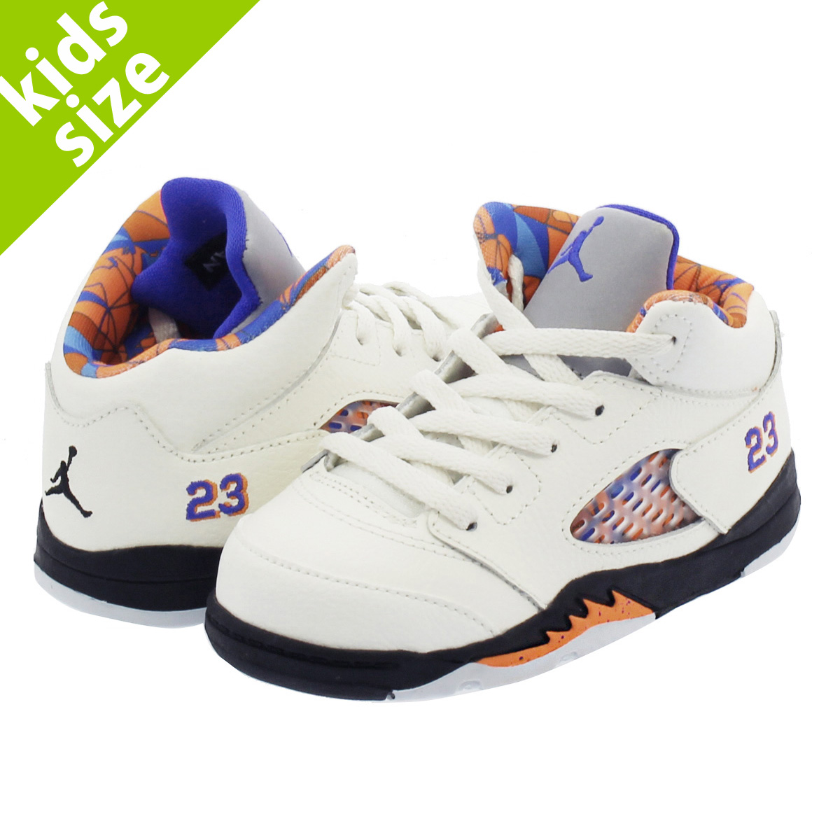 【ベビーサイズ】【8-16cm】 NIKE AIR JORDAN 5 RETRO BT ナイキ エア ジョーダン 5 レトロ BT SAIL/RACER BLUE/CONE/BLACK 440890-148