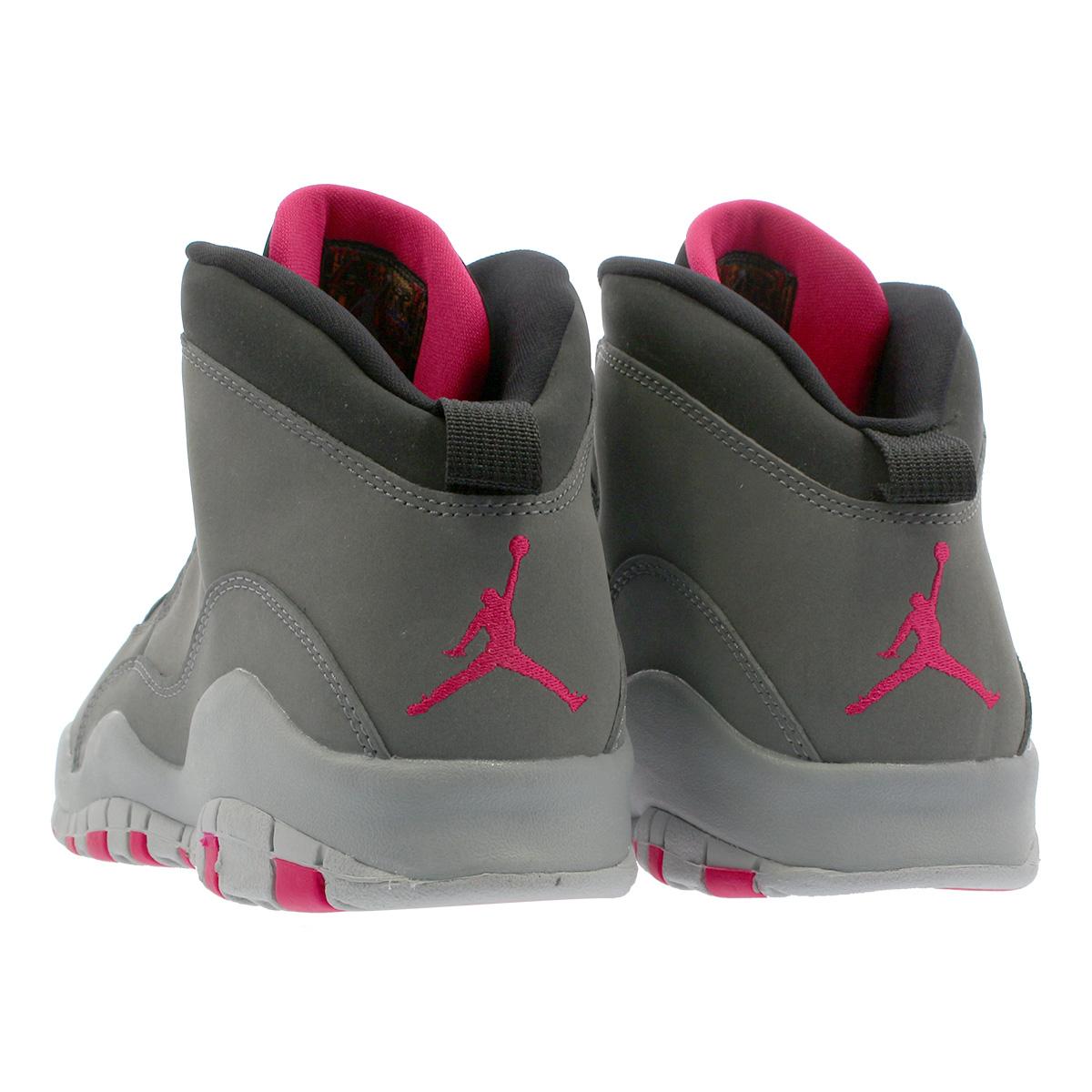 separation shoes 5a5c4 71256 NIKE AIR JORDAN 10 RETRO GG Nike Air Jordan 10 nostalgic GG DARK SMOKE GREY RUSH  PINK BLACK IRON GREY 487,211-006